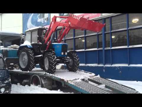 Мини-погрузчик БЛ-132 на базе  Агромобиля   2 - YouTube