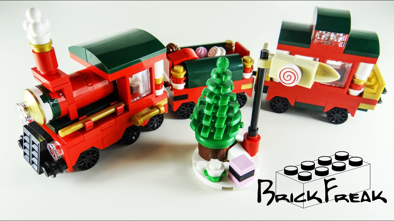 lego christmas train instructions