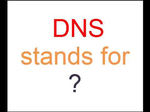 Full form of DNS is ? - YouTube