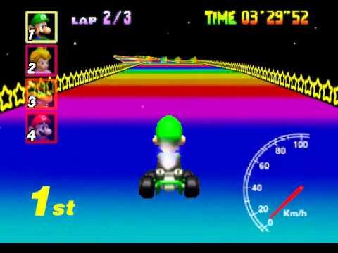 Mario Kart 64 Rainbow Road Cheating A I Exposed Youtube