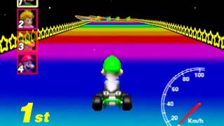 Mario Kart 64 - Rainbow Road Cheating A.I. Exposed