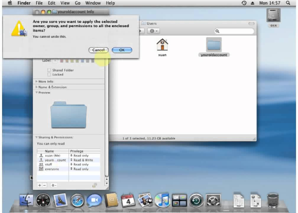 App permissions mac