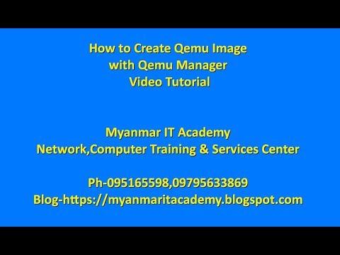 How to Create Qemu Image with Qemu Manager - YouTube