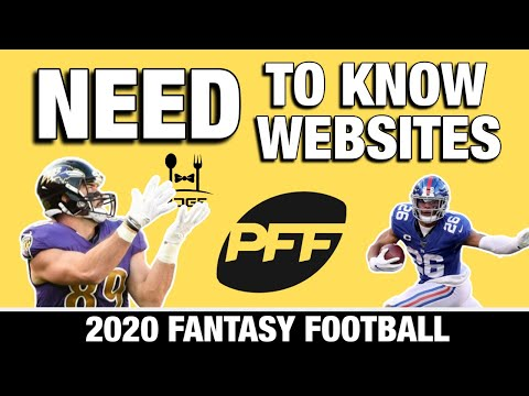 2020 Fantasy Football - The Best Websites For Your Fantasy Football Draft Research