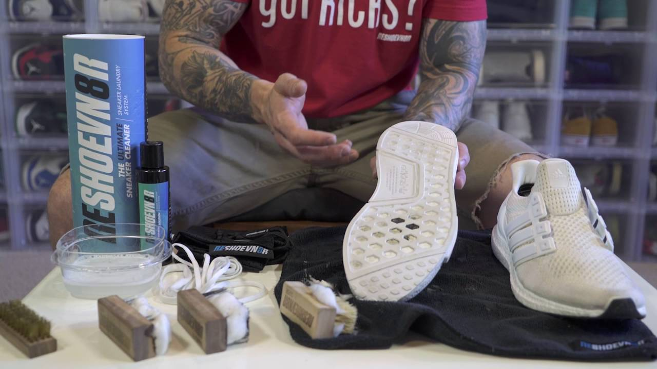 742b9cf4a27b1 How to clean Adidas Ultra Boost   Adidas NMD with Reshoevn8r - YouTube
