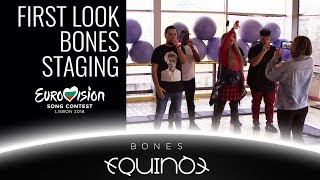 FIRST LOOK AT THE STAGING OF BONES BY EQUINOX  | BULGARIA EUROVISION 2018  | БНТ ЕВРОВИЗИЯ БЪЛГАРИЯ