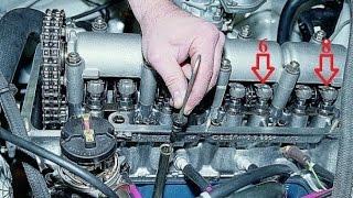 видео Регулировка клапанов. Как влияют зазоры клапанов на фазы. Влияние регулировки клапанов на двигатель