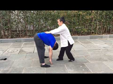 Chinese Taoist Massage After Training Tai Chi on Wudang Mountain, China