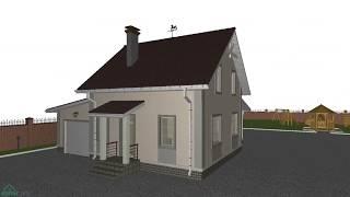 Небольшой уютный мансардный дом c гаражом   B-202-ТП