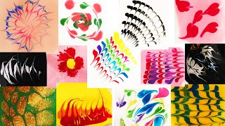 Dry marbling nail art compilation: 13 designs in 3 minutes