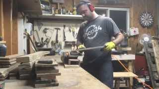 Extremely Exciting Footage Of Sanding Pallet Wood Planks.