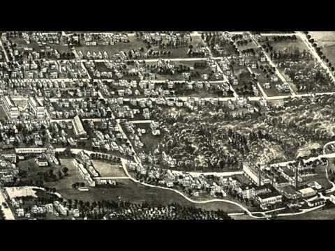 Manchester Connecticut 1914 Panoramic Bird's Eye View Map 6347