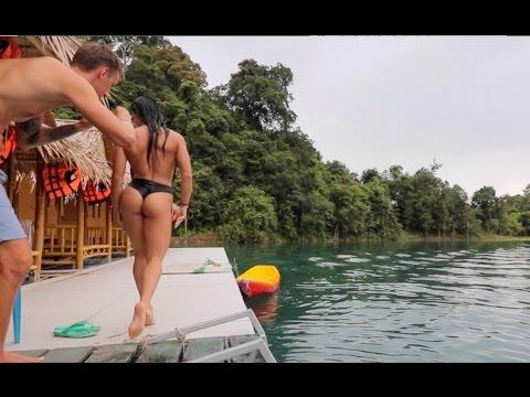 Ночь на озере. Даша снимает рекламу купальника.