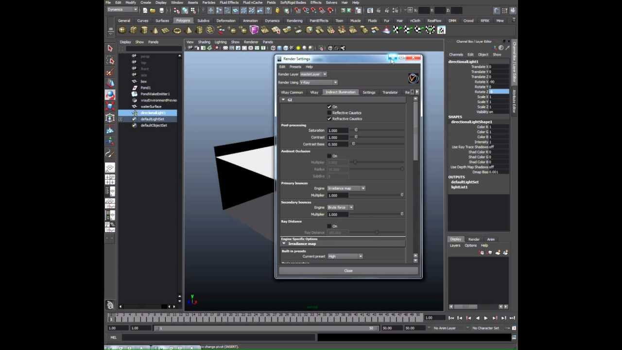 Vray for maya tutorial script automatic 32 bit displacement.