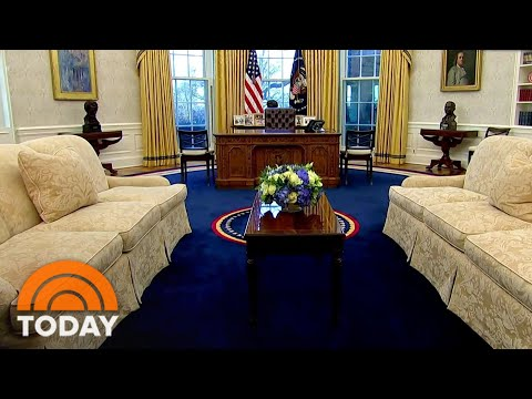 Oval Office Has A New Look Now That Biden Is President: An Exclusive Look | TODAY
