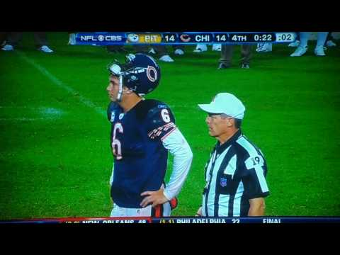 CHICAGO BEARS QB JAY CUTLER VS  MAD REFEREE./HD