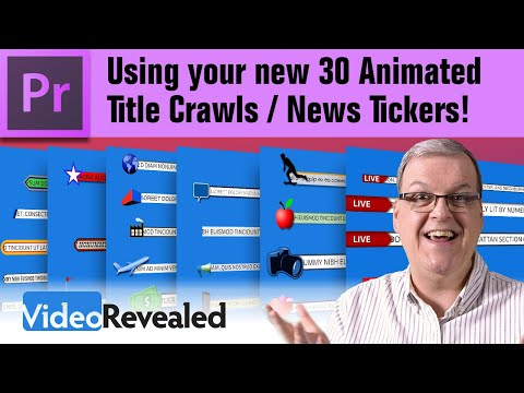 Using your new Title Crawls / News Tickers!