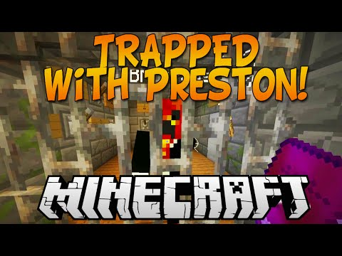 "MINECRAFT ADVENTURE MAP ""TRAPPED"" w/Kenny and PrestonPlayz!"