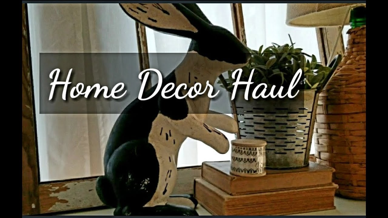 Home decor haul yard sale consignment michaels youtube