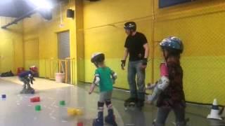 Обучение на роликах детей 4-6 лет базовые навыки (май 2015)