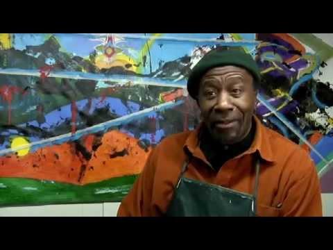 Caribbean born Harlem, NY based WEUSI artist Ademola Olugebefola