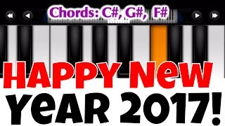 Happy New Year 2018 I Perfect Piano Tutorial   Mobile Piano Songs Notes   App instrumental