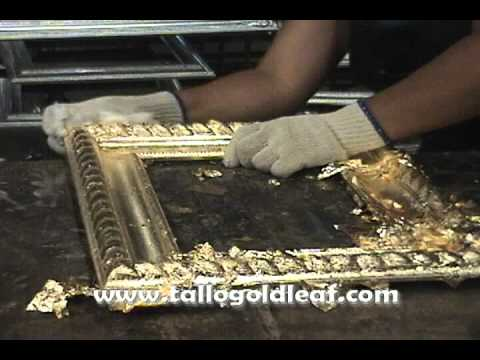 How To Apply Gold Leaf On Picture Frames Youtube