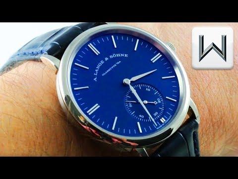 A. Lange \u0026 Söhne Saxonia (BLUE DIAL) (380.028) Luxury Watch Review