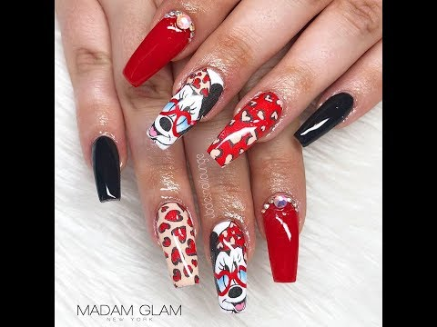 Minnie Mouse Design | Acrylic Infills | Re Design