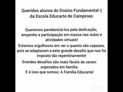 Escola Educarte De Campinas. Fundamental II.