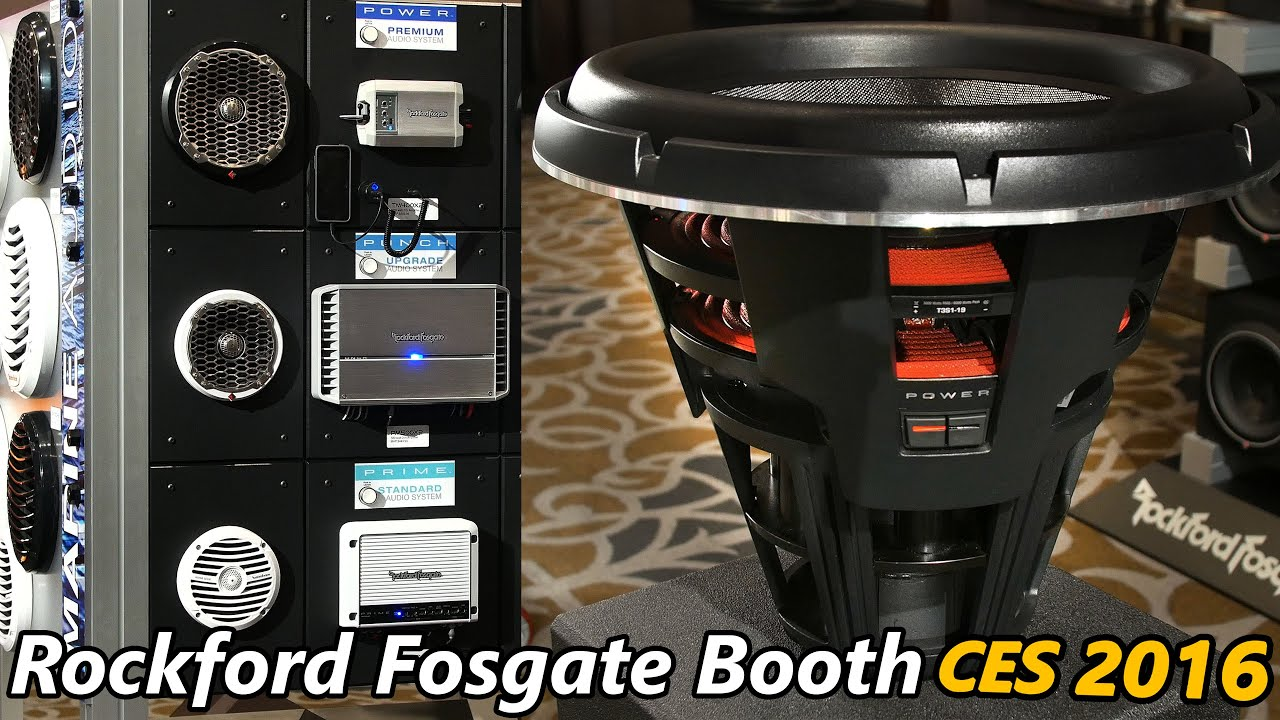Rockford fosgate ces 2016 19 super subs amps and marine rockford fosgate ces 2016 19 super subs amps and marine audio youtube sciox Image collections