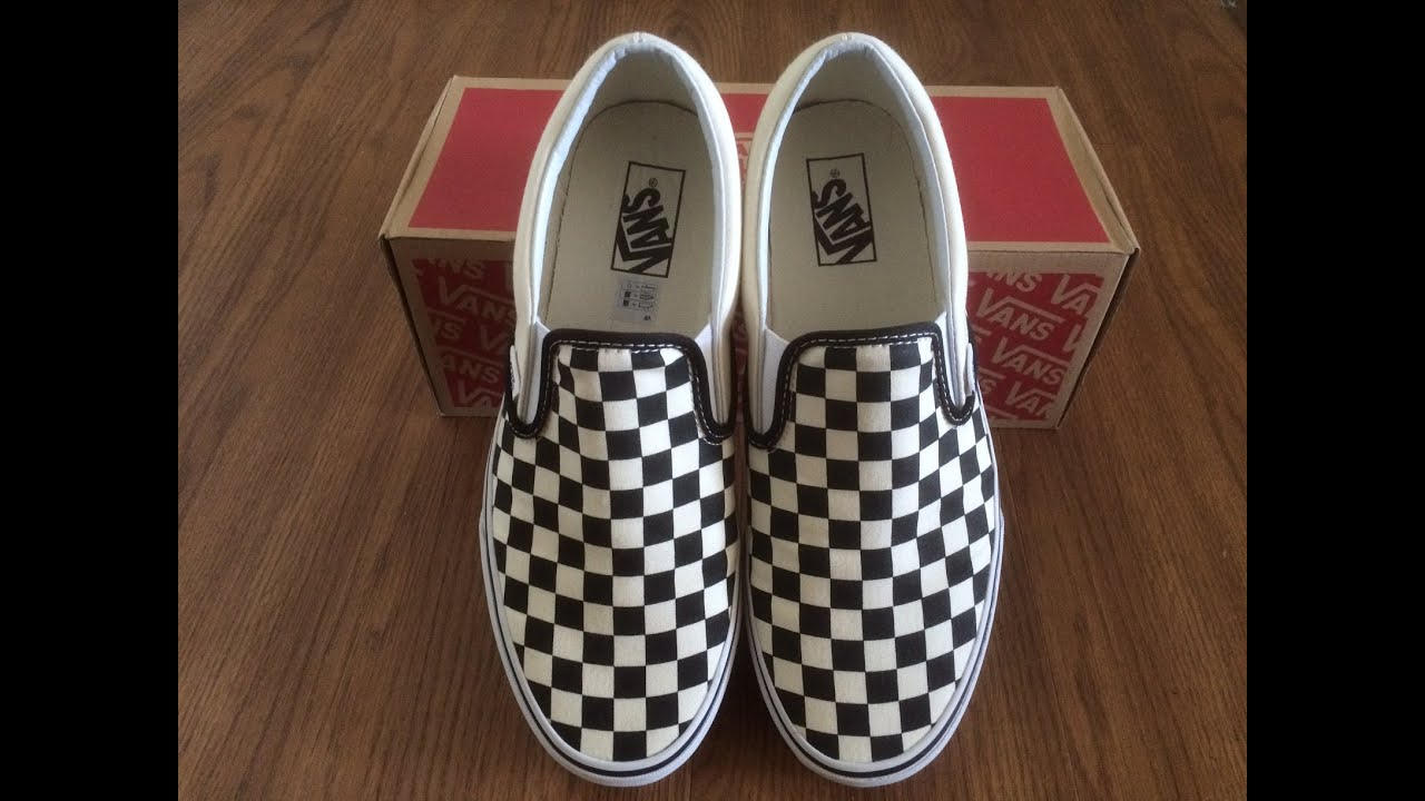 classic slip on checkerboard vans