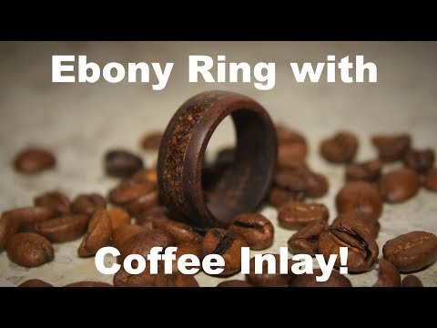 Ebony Ring with Coffee Inlay!!! *Satisfying*