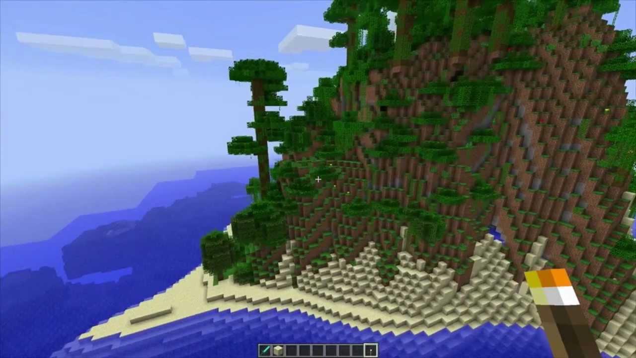 MineCraft 1 3 Jungle Mountain Seed, Paradise Island Seed