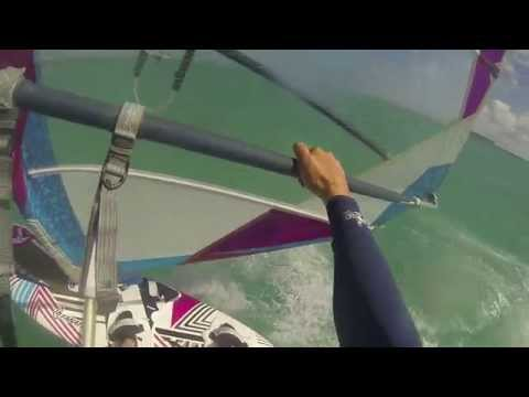 Windsurfing @ Club Mistral 'Ainse la Raie' in the North East of Mauritius, Indian Ocean.