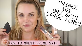HOW TO MINIMIZE LARGE PORES, TEXTURED SKIN & STILL GLOW || Dry & Large Pore Primer Routine