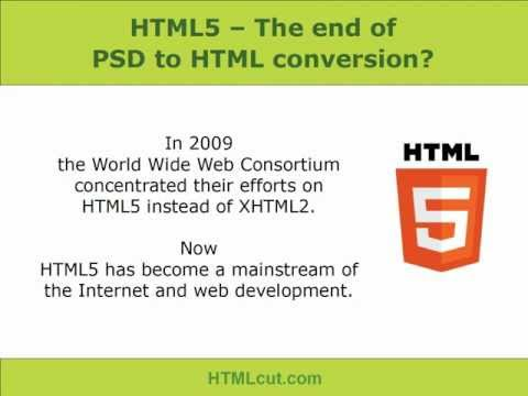 HTML5 - The End of PSD to HTML Conversion or Beginning of PSD to HTML5?