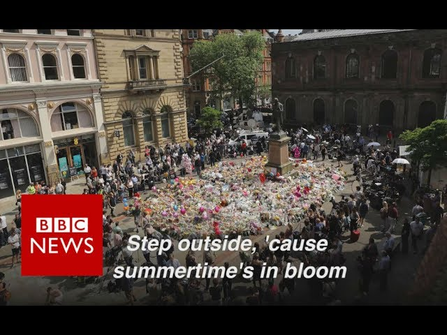 Why I sang Oasis  at Manchester silence  - BBC News