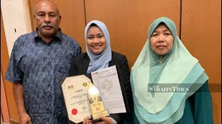 Garbage truck driver's daughter scores 5As in STPM