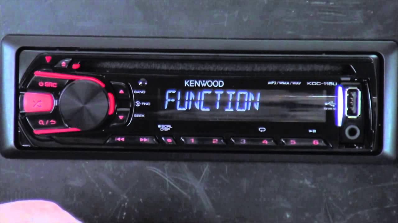 kenwood kdc 118u out of the box [ 1280 x 720 Pixel ]