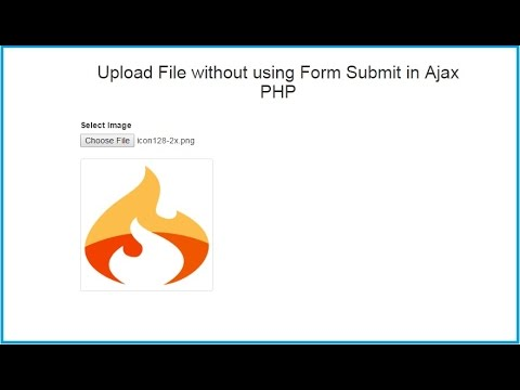 Upload File without using Form Submit in Ajax PHP | Webslesson