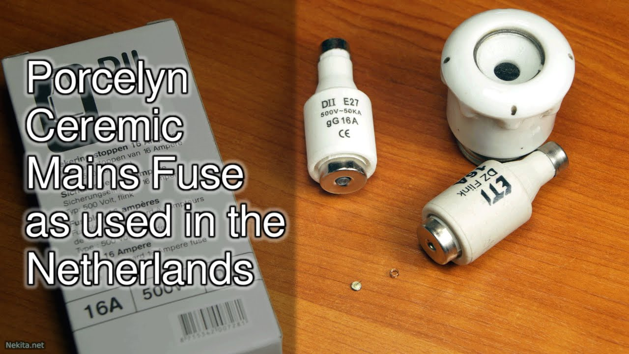porcelain ceramic mains fuse as used in the netherlands youtube rh youtube com