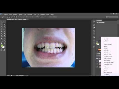 Como Clarear Os Dentes Com Photoshop Cs6 Youtube