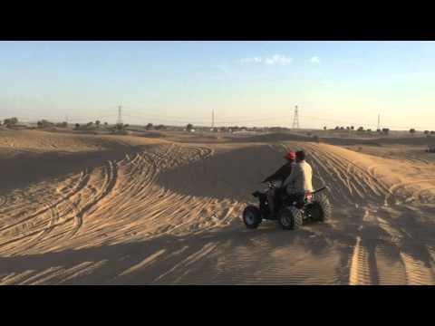 Quad Biking in Dubai   Dubai Desert Safari Camp   How to ride a Quad Bike   Quadbike Madness