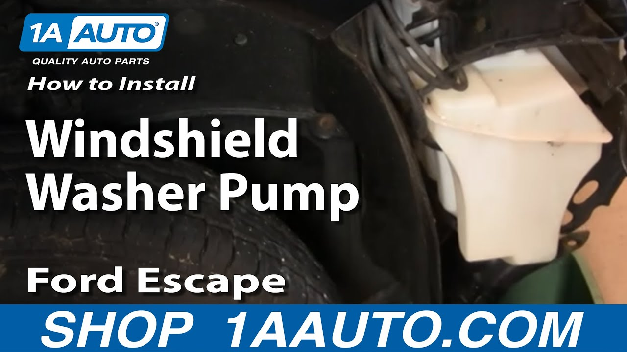 How To Replace Windshield Washer Pump 01 07 Ford Escape Youtube 2006 Five Hundred Radio Wiring Diagram