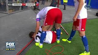 Se lesiona tras celebrar gol