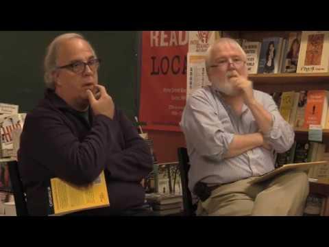 Thriller writers Brendan DuBois and Jim Fusilli at Water Street Bookstore