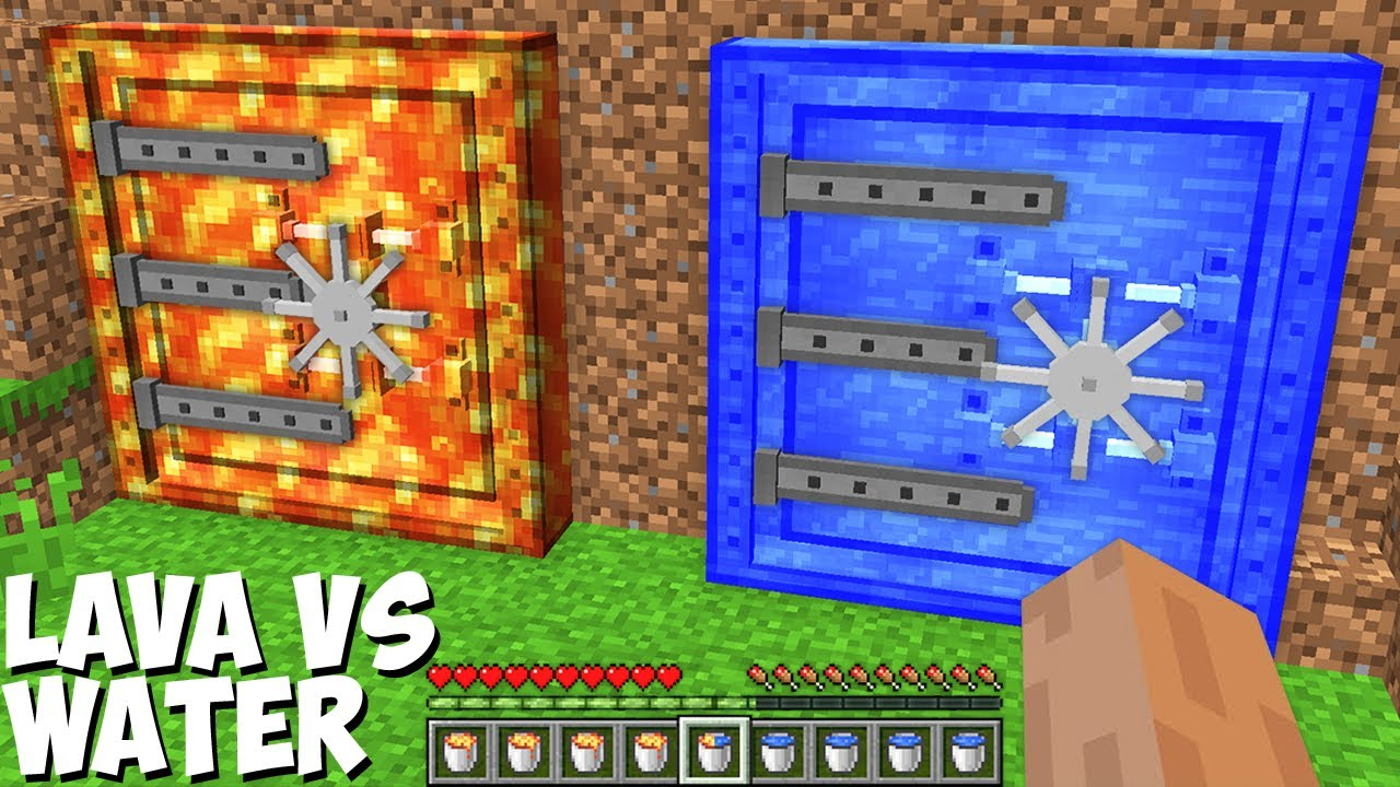 Which BUNKER is BETTER LAVA BUNKER or WATER BUNKER in Minecraft ? WHAT INSIDE SECRET BUNKER !