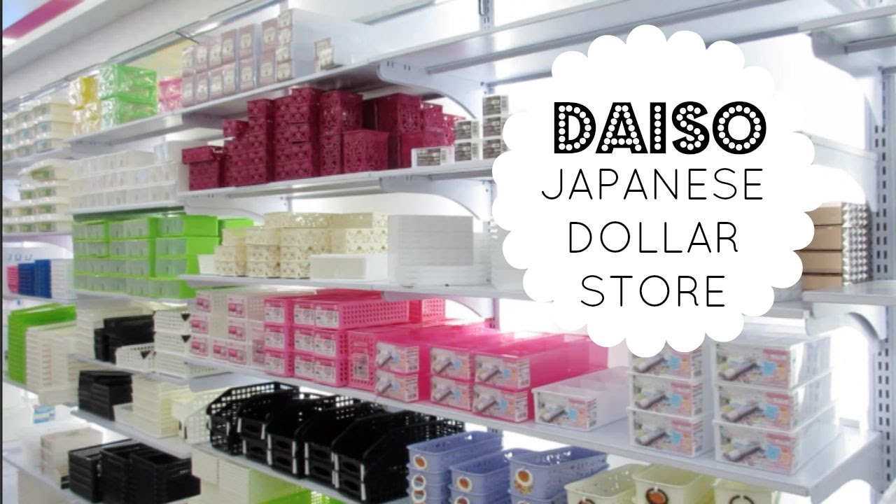 JAPANESE DOLLAR STORE | Daiso Store Tour & Organizing Ideas! - YouTube