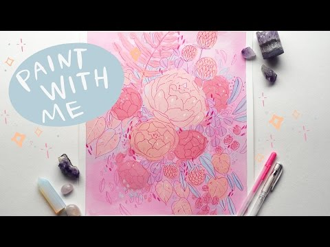 Paint With Me - More Pink Flowers